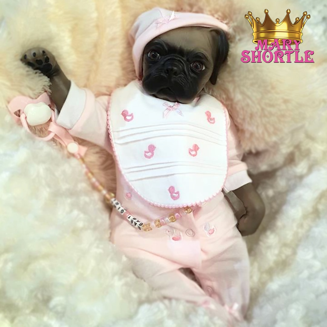 Bitsy Reborn Pug Mary Shortle