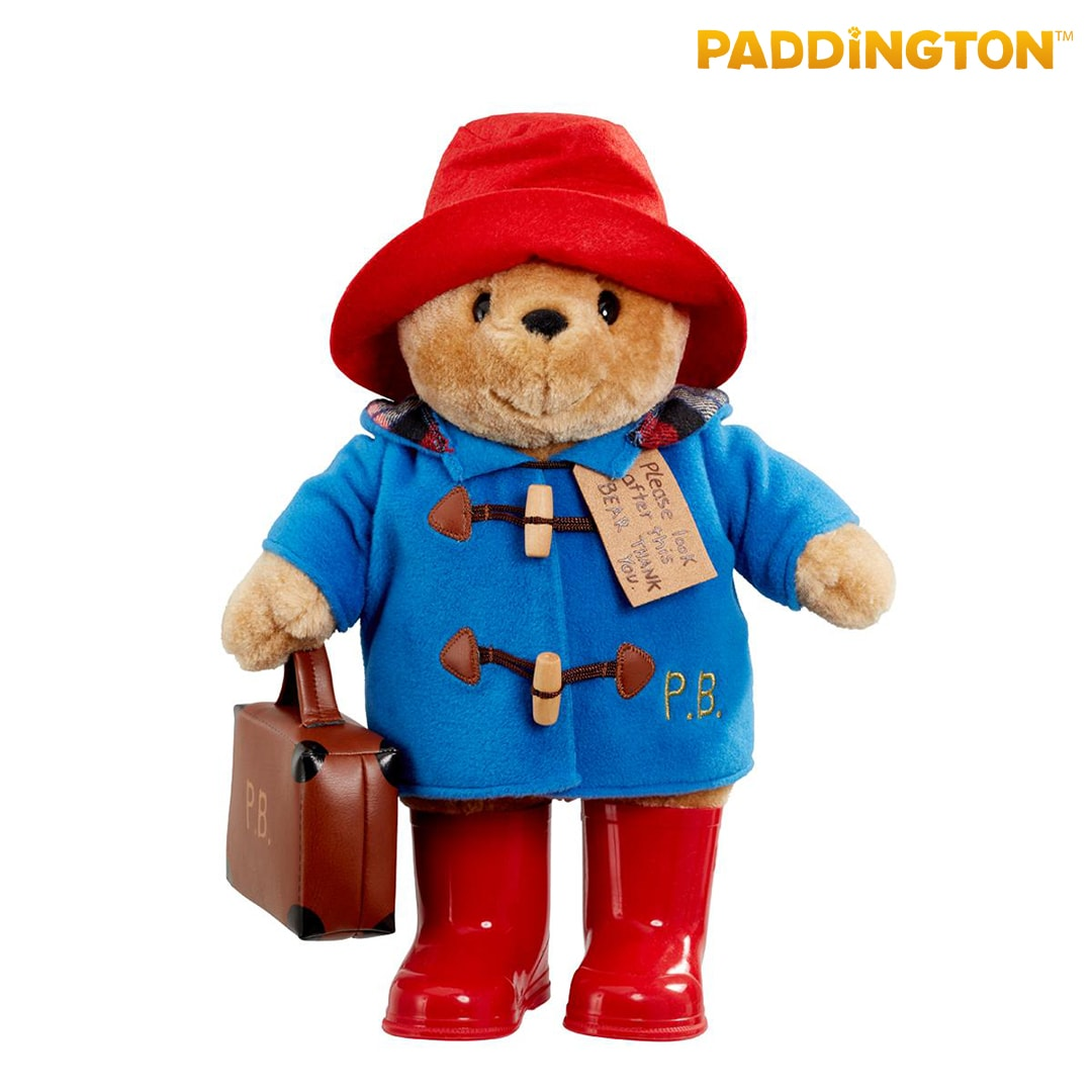 Large Classic Paddington Bear with Boots & Suitcase Mary Shortle