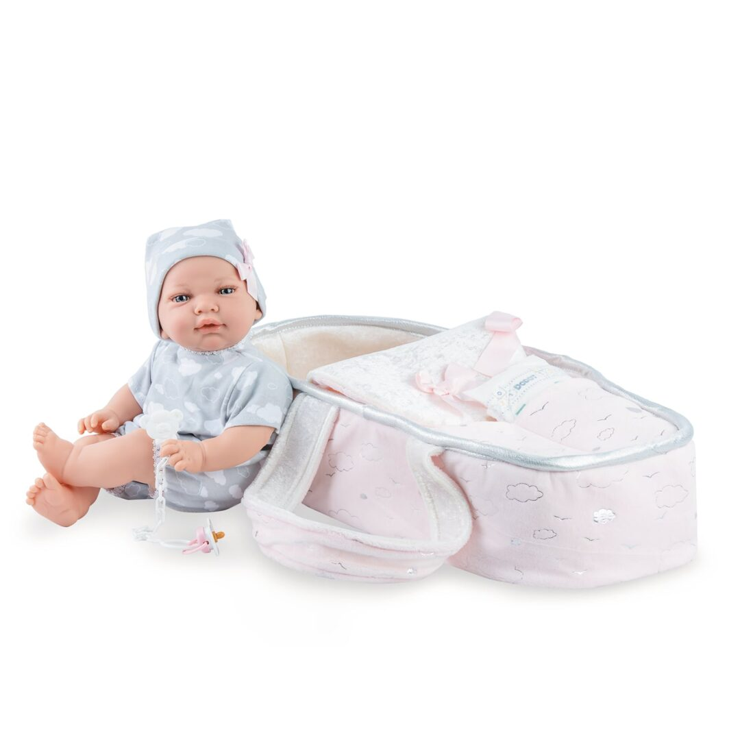 Alicia Baby Doll and Carrycot-min