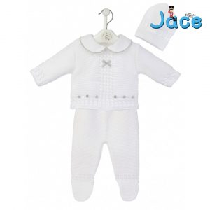 Mary Shortle The Ingham Family Jace White knitted 3 piece legging set