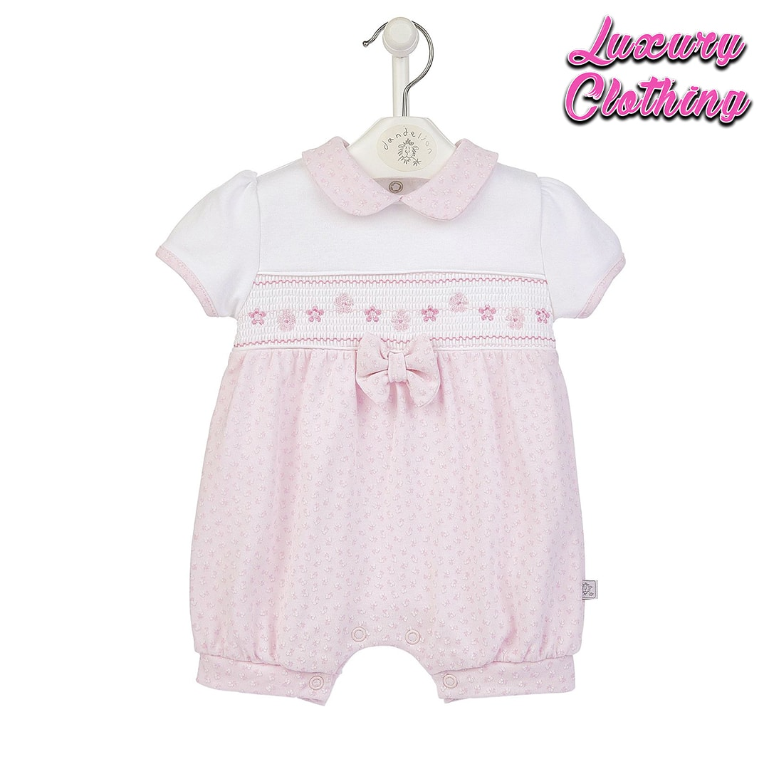 Floral Smocked Romper Luxury Clothing Mary Shortle