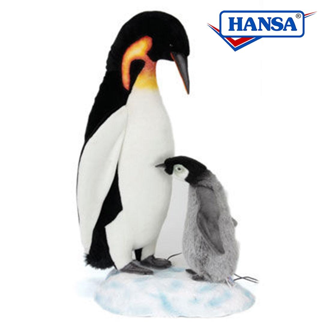Hansa Animated Emperor Penguin Doting Lifesize Mary Shortle