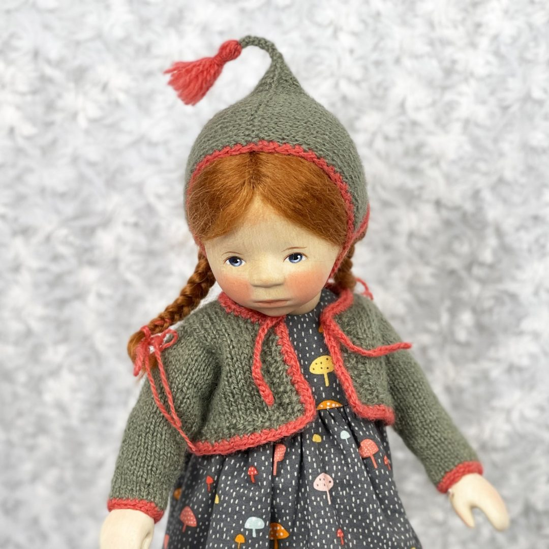 Pongratz Girl in Mushroon Dress 2-min