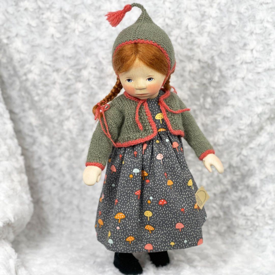 Pongratz Girl in Mushroon Dress-min
