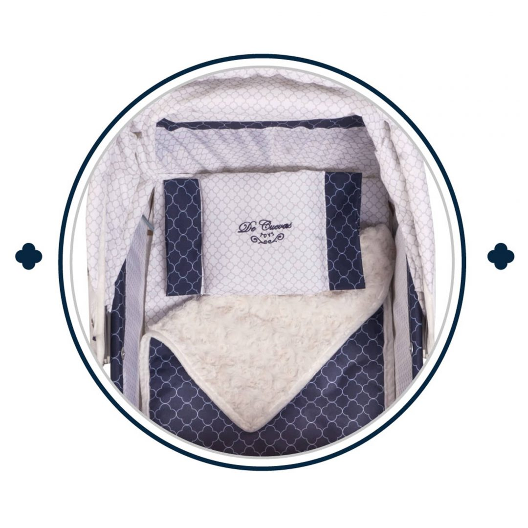 Decuevas Single White and Navy Pram Mary Shortle