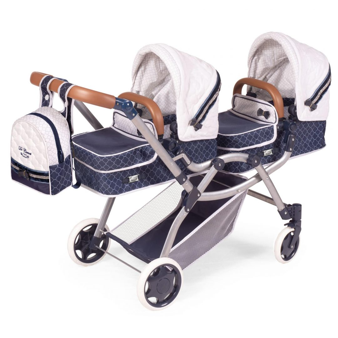 Decuevas White and Navy Pram Mary Shortle