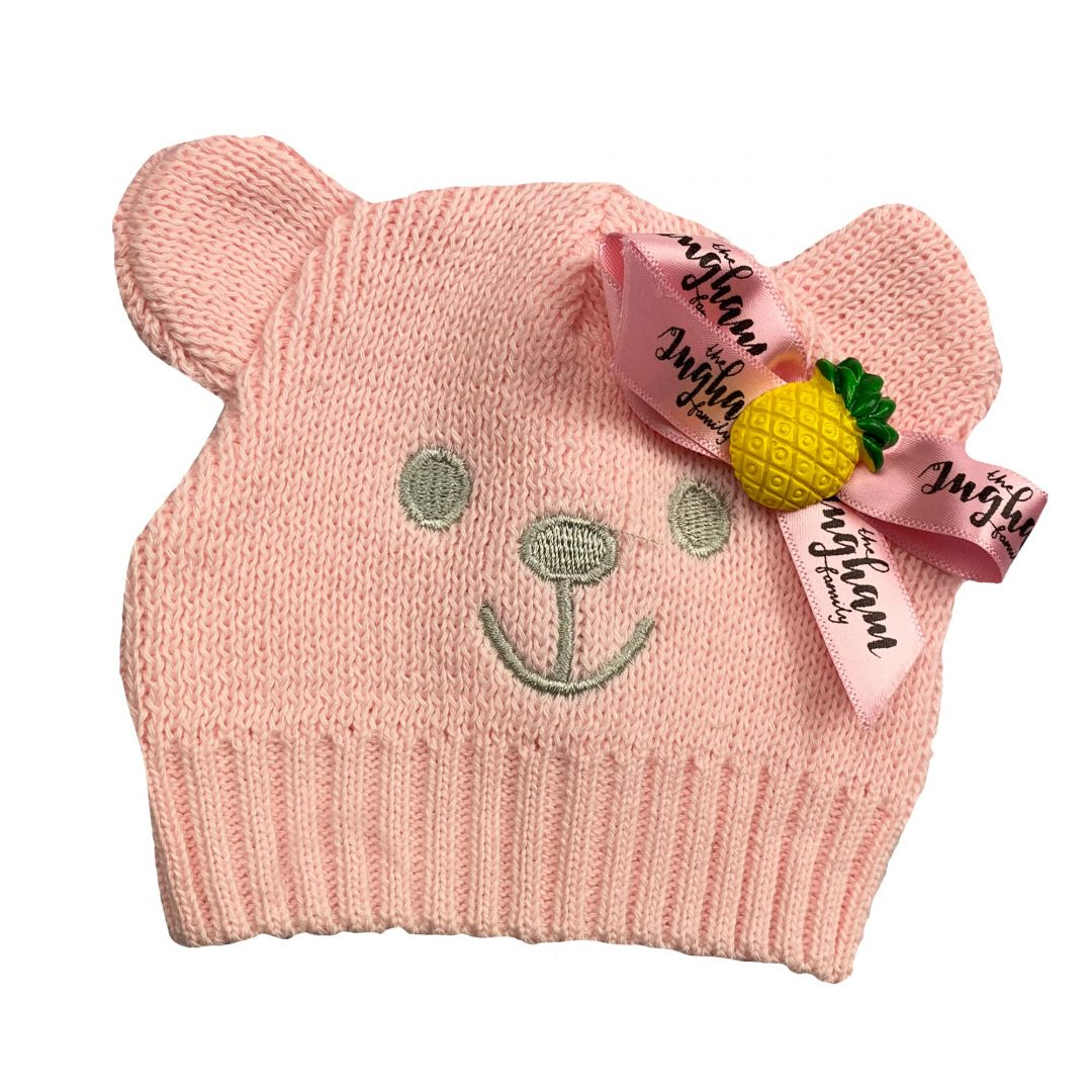 Pink Ingham Teddy Hat Mary Shortle