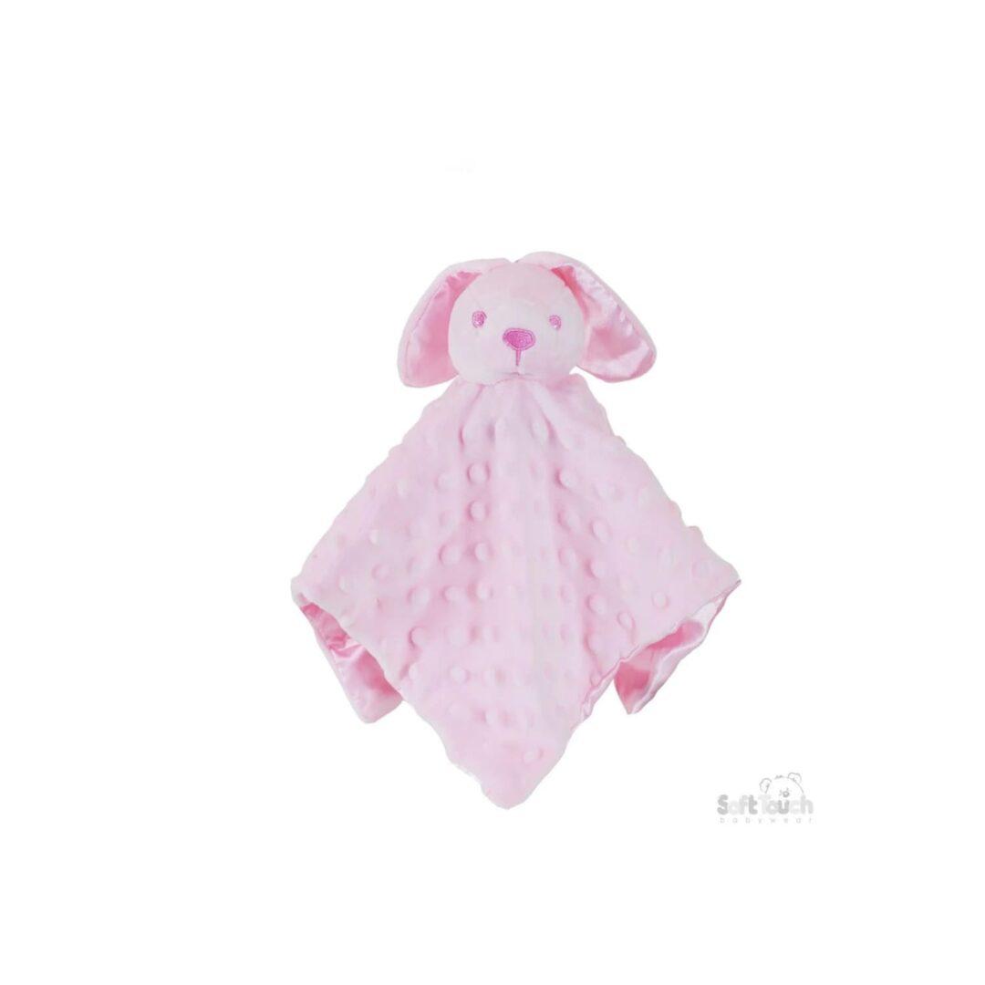 Pink Baby Bunny Comforter-min