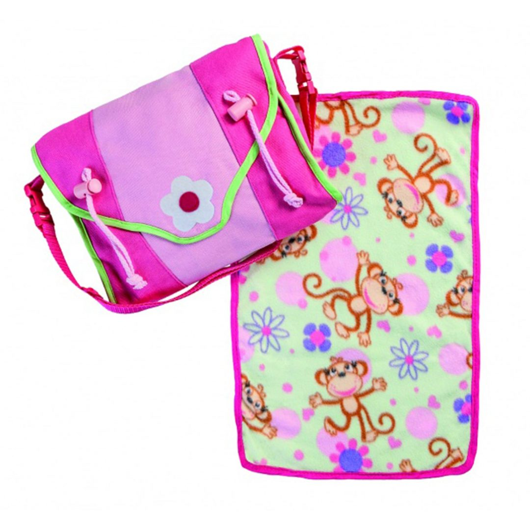 Pink Diaper Bag with Changing Mat Mary Shortle