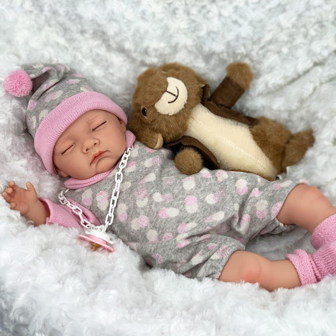Sleepy Head Play Doll with Rabbit Mary Shortle