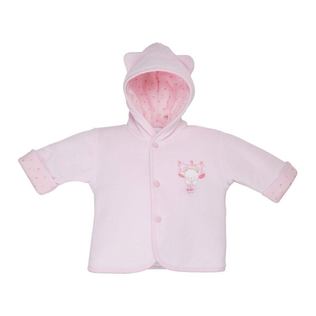 Tiny Baby Bear Jacket Pink Mary Shortle