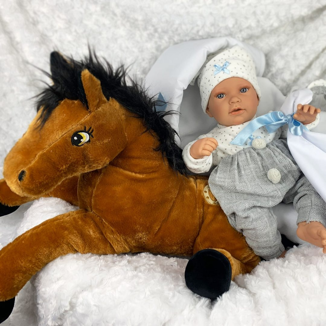 Bradley and Horse Play Baby Doll with Teddy Mary Shortle