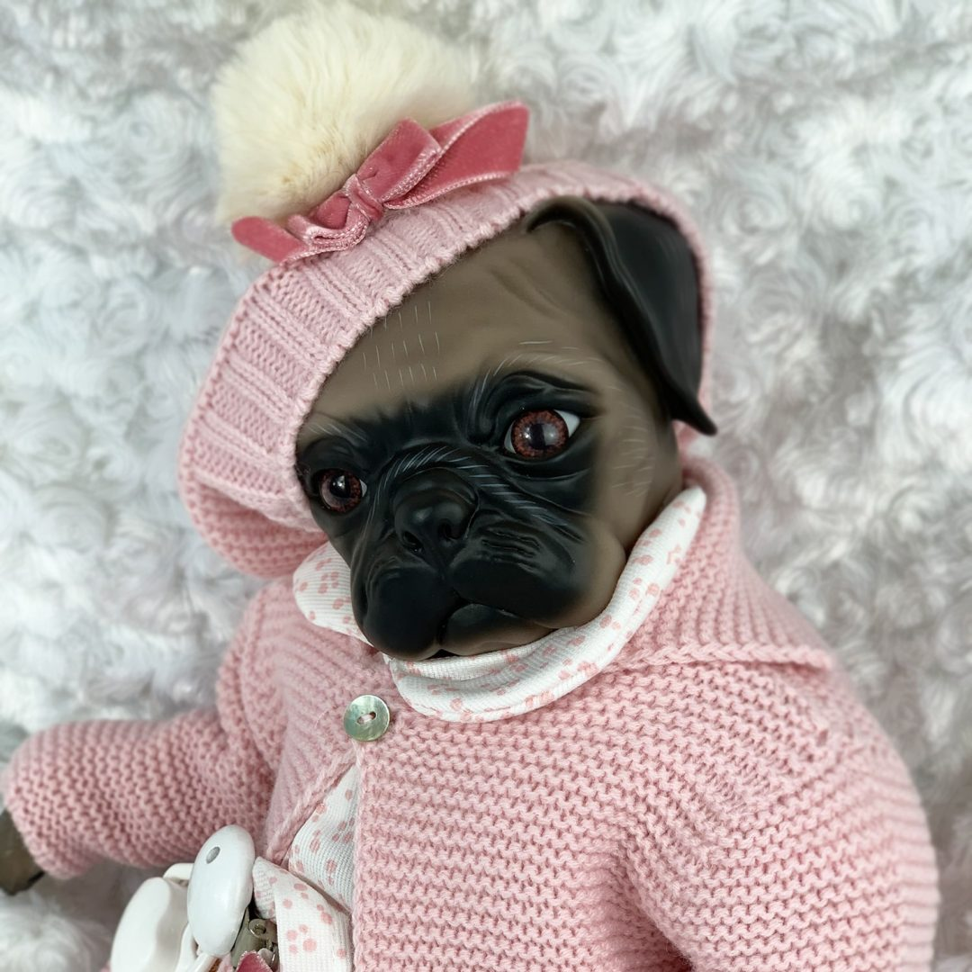 Bailey Pug Reborn Girl Mary Shortle