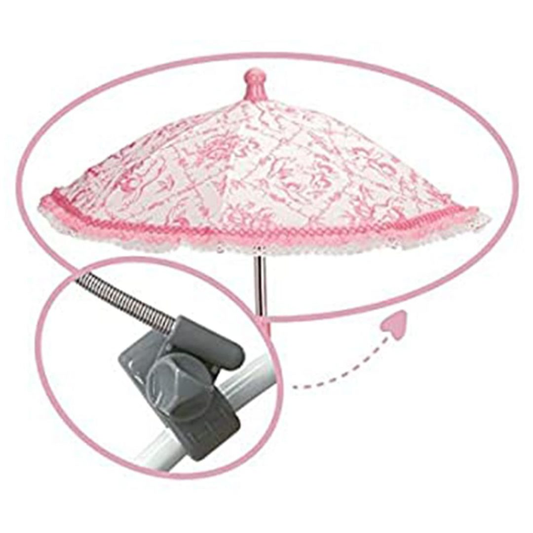 Pink Dolls Pram Parasol
