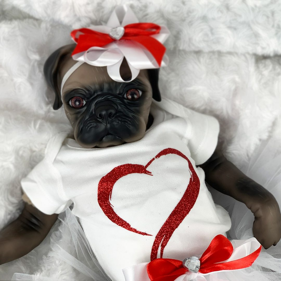 Little Darling Reborn Girl Pug Doll Mary Shortle