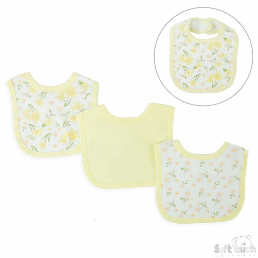 Triple pack Bandana Bibs Flowers-min