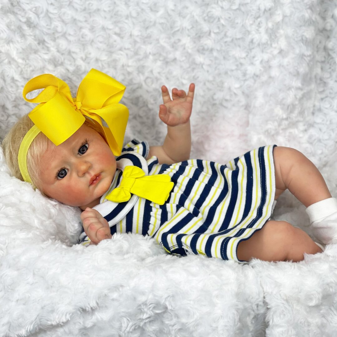 Luxe Reborn Baby Doll Mary Shortle 4-min
