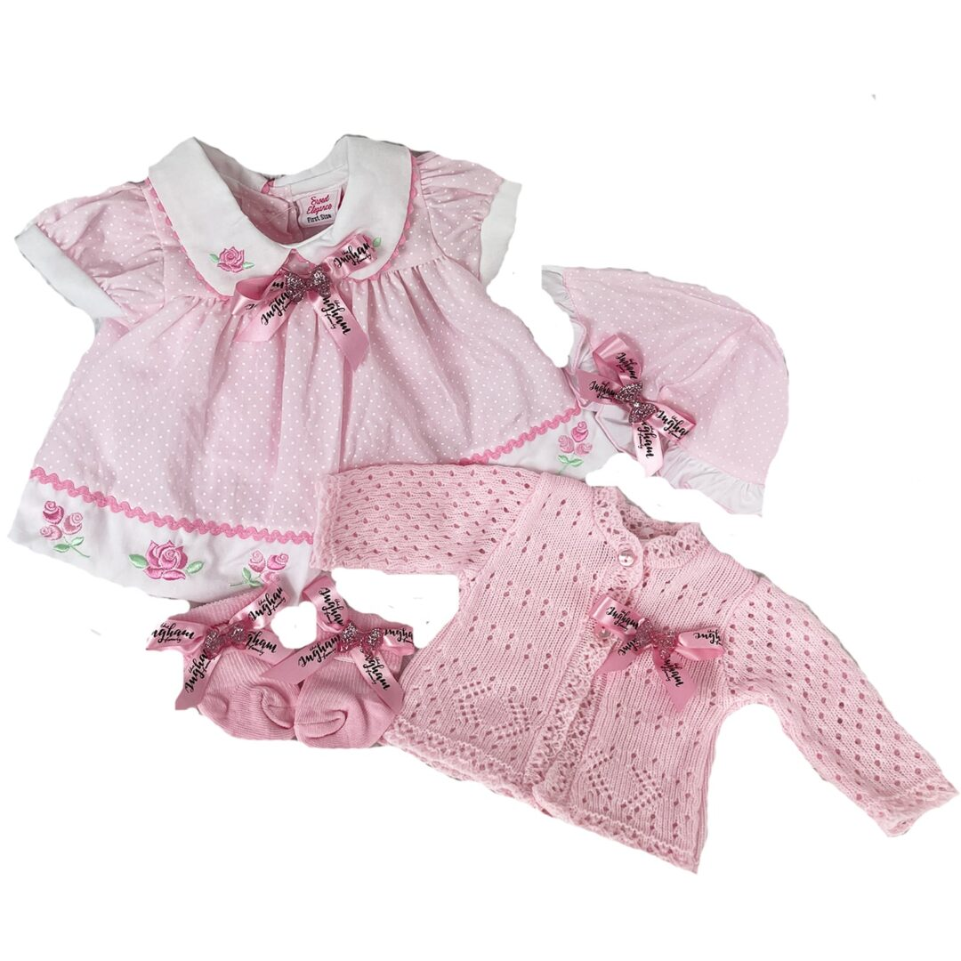 The Ingham Family Dress and Cardigan and Socks Set-min