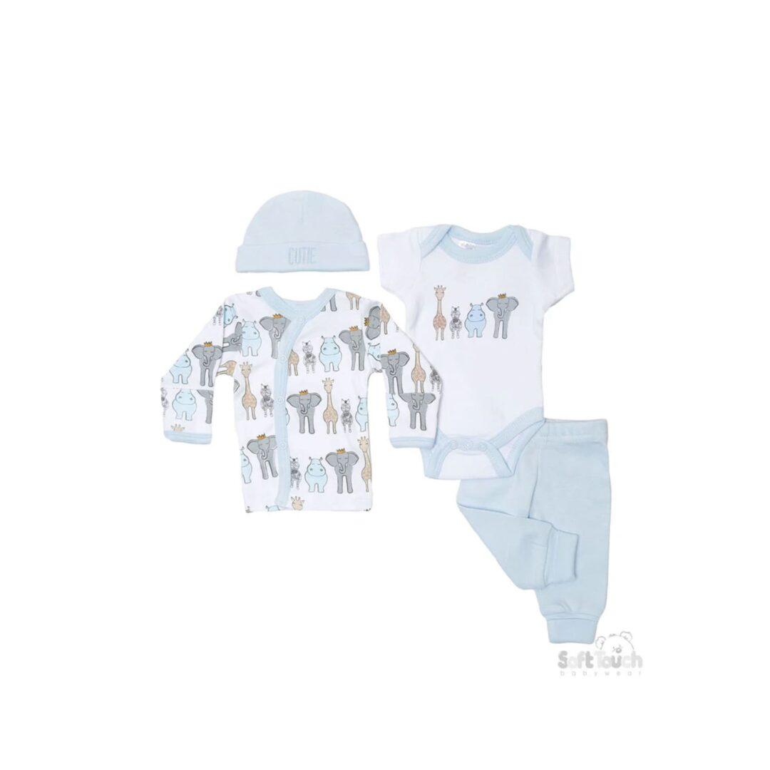 4 Piece Safari Blue Set-min