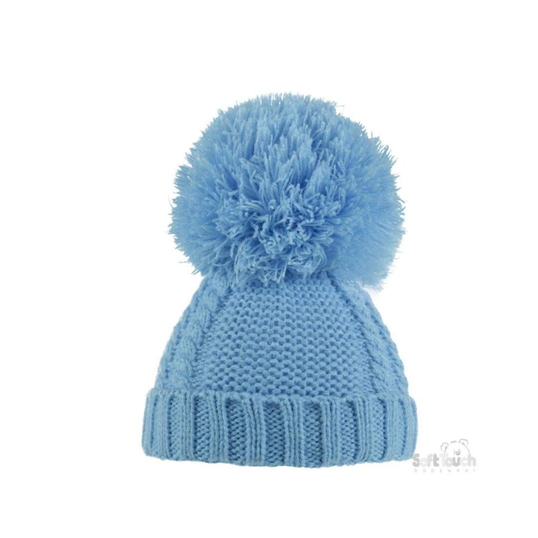 Blue Pom Pom Hat-min (1)