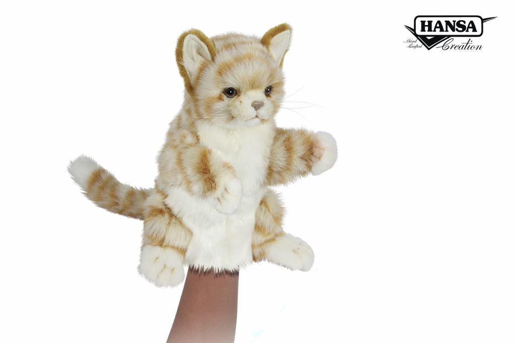 Ginger cat Hand Puppet Hansa-min