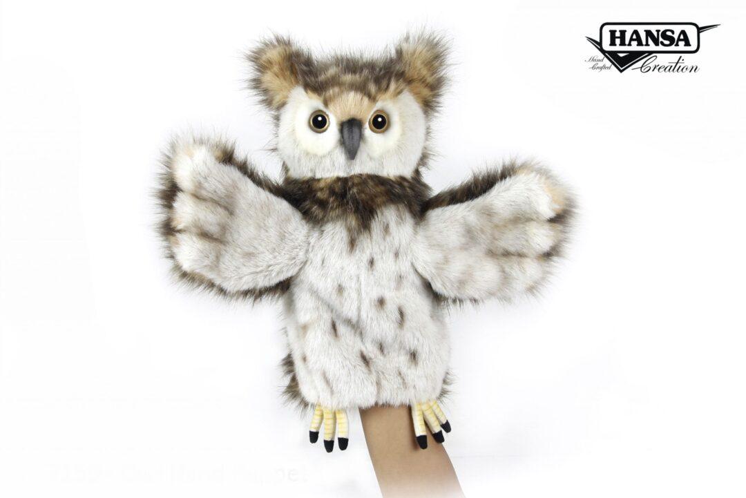 Owl Hand Puppet Hansa-min