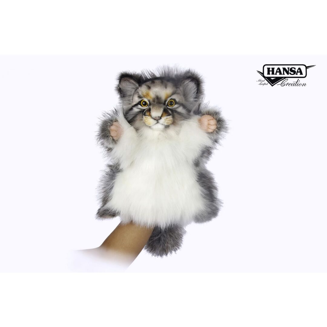 Pallas Cat Hand Puppet Hansa-min