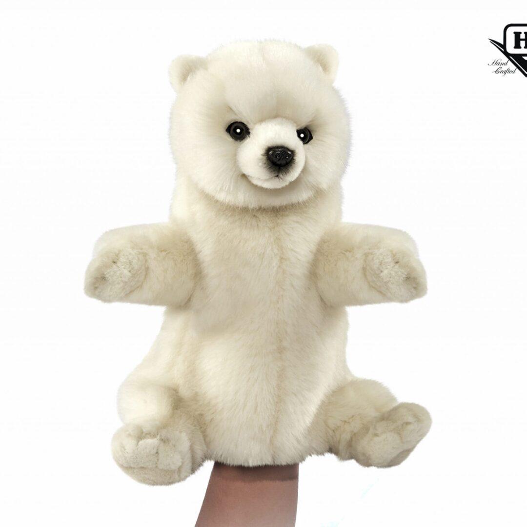 Polar Bear Hand Puppet-min