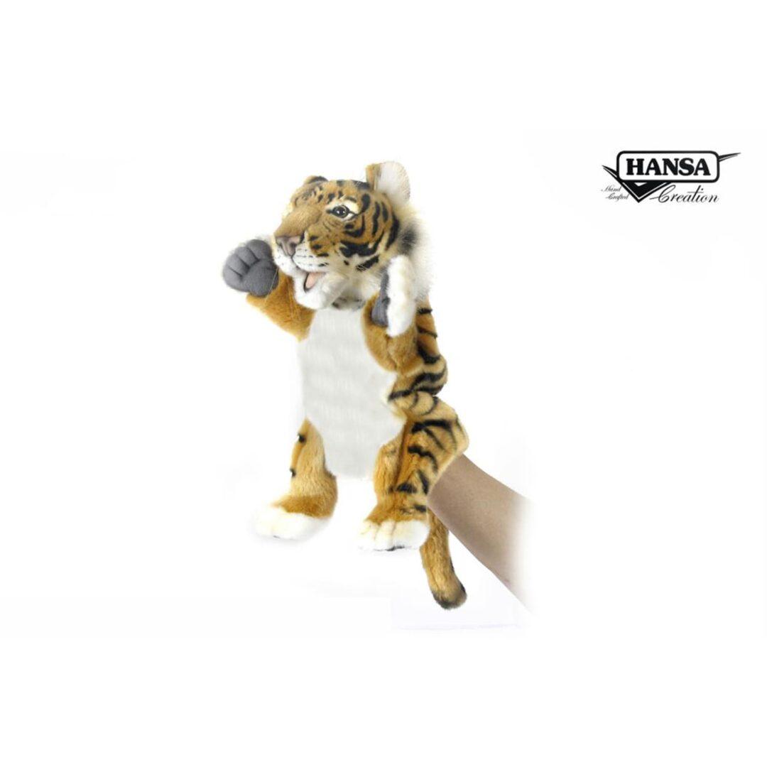 Tiger Hand Puppet Hansa-min