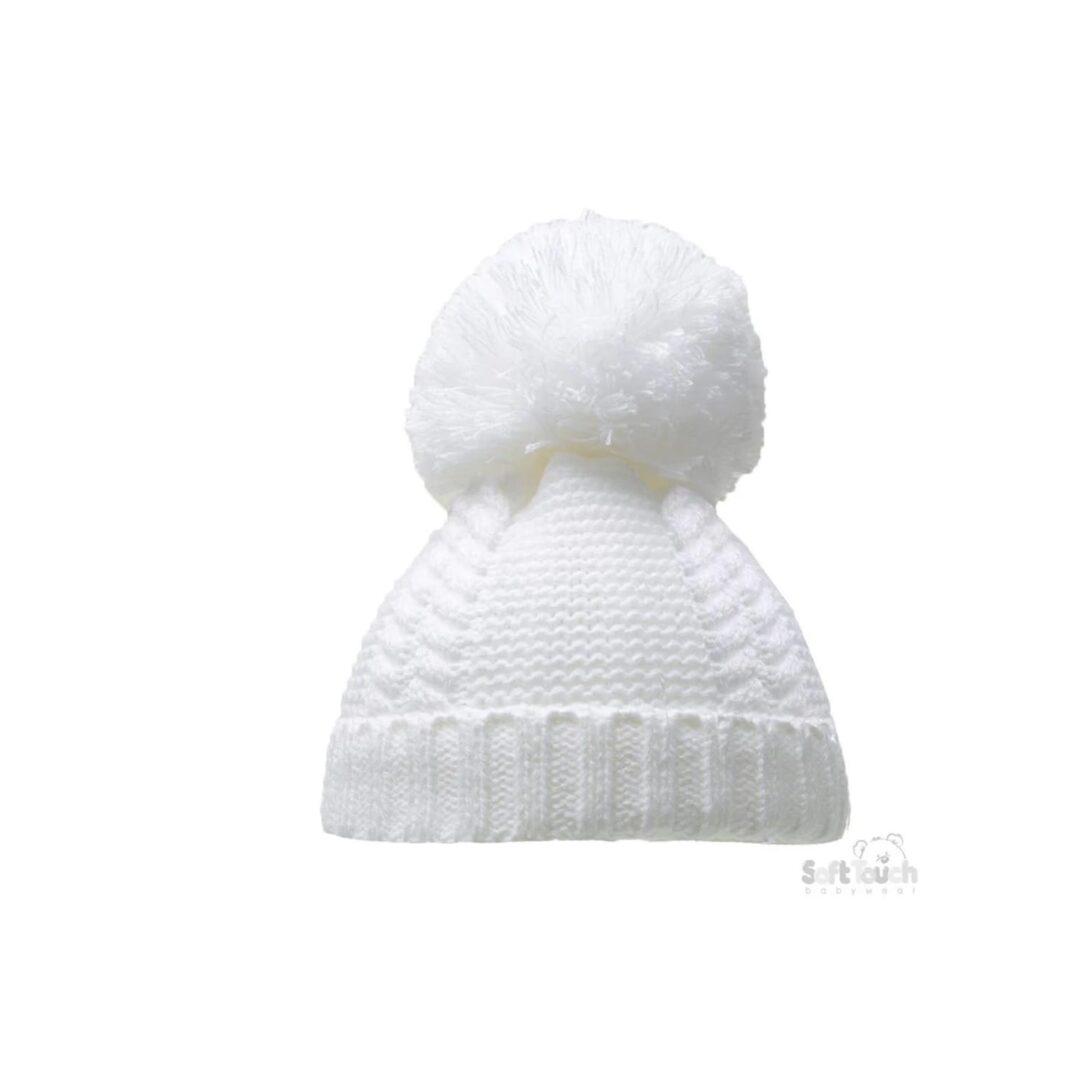 White Pom Pom Hat-min (1)